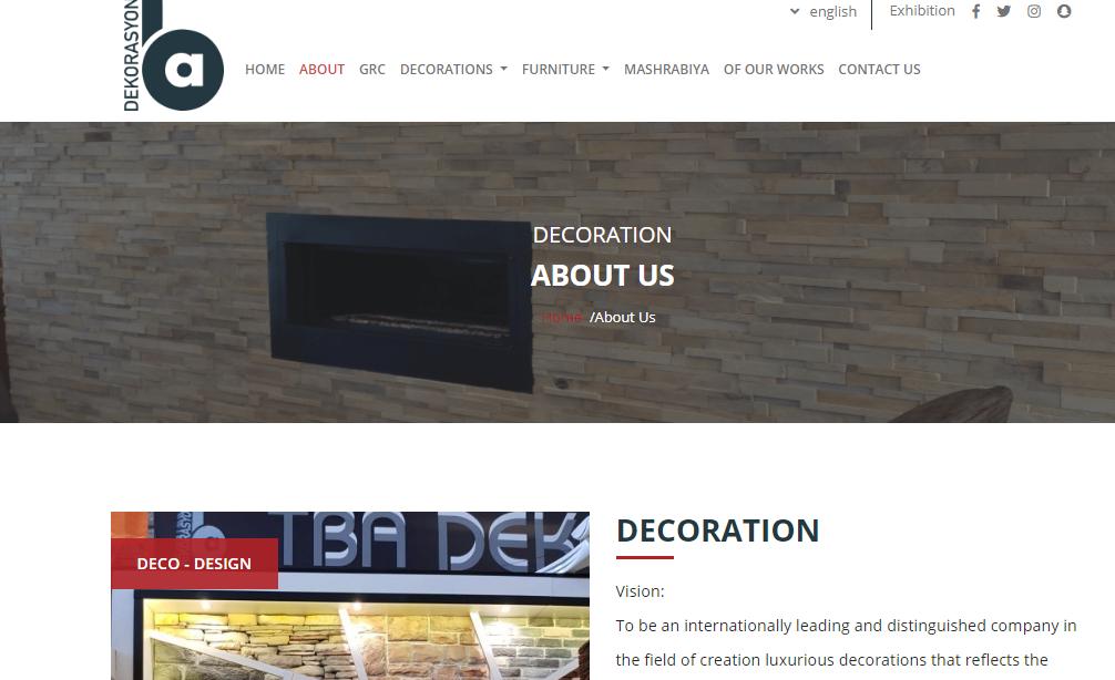 TBA DEKORASYON Website